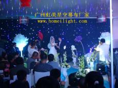 婚禮背景 藍白燈珠效果好