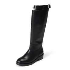 詩加美歐美2016秋冬新款真皮靴子 騎士靴馬夫靴一腳蹬長筒牛皮女靴