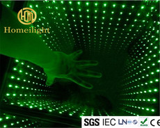 Magic 3D Mirror Thoughed Glass Abyss Dancing Floor  for DJ Club Disco Stage Show