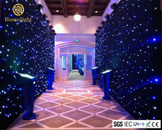 LED Star curtain BW