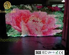 直播舞台 p15cm led视频幕布 RGB全彩幕布婚庆演出背景