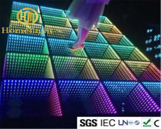 LED 3D Mirror Abyss Dance floor for dissco night club