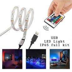 Simfonio Led Strips Lighting 1M 5V 30Leds USB Multicolored Waterproof 5050 SMD RGB LED Flexible Stri