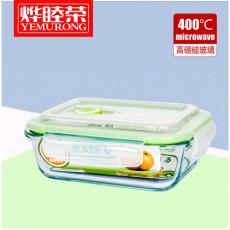 烨睦荣保鲜盒BXH101(650ml)高硼硅耐热玻璃保鲜碗