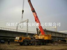 深圳坪山吊车出租深夏高铁施工吊装现场