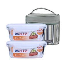 乐扣乐扣耐热玻璃保鲜盒LLG429S901两件740ML套装