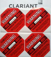 全英文DAMAGE X50G紅色防震標簽