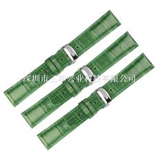 三和兴新款皮表带通用手表带鳄鱼纹表带竹节纹蝴蝶扣一件代发20mm
