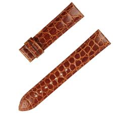 廠家直銷真皮表帶蝴蝶扣雙按彈扣圓紋鱷魚皮表帶 三和興表帶
