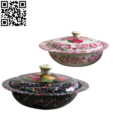 印花蓋盆(Stainless steel Fruit basin)ZD-ZYP15