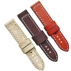 厂家直销新款纯色多颜色系列头层真皮针织手表带