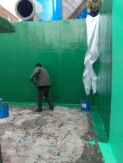 污水池防腐玻璃鳞片涂料施工