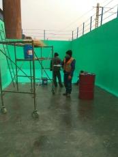 污水池胶泥涂料防腐施工