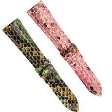 厂家定制蟒蛇纹多色可选真皮表带 三和兴表带