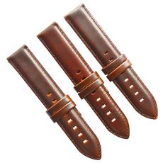 廠家直銷復古棕色休閑表帶頭層牛皮真皮表帶 三和興表帶