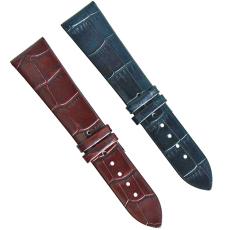 廠家直銷個性定制竹節紋多顏色可選真皮表帶 三和興表帶