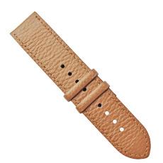 荔枝纹平身方尾智能手表配件头层真皮表带?#20449;?#36890;用款手表带