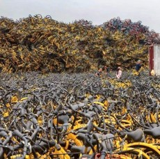 香港共享單車銷毀