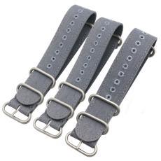 帆布表带灰色耐脏耐磨款 三和兴表带