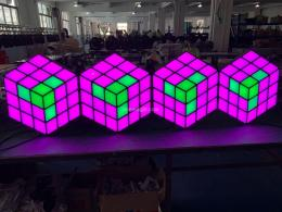 3D 魔方立体背景墙