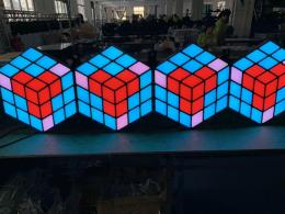 LED 3D magic cube wall dance floor stage floor indoor wall for wedding party backdrop