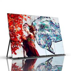 Portable and floor-standing poster LED display