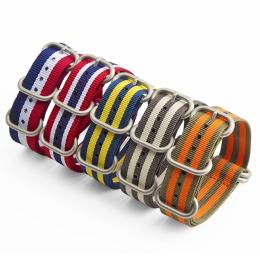 间色配旦圈  尼龙表带  现有材料配色任选  支持定制颜色 三和兴表带2
