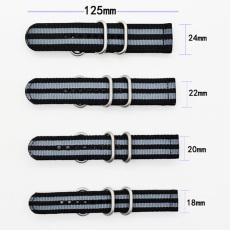 間色  長短帶滌綸表帶  可配方鋼扣也可配旦圈  現有材料顏色任選  支持定制顏色 三和興表帶2
