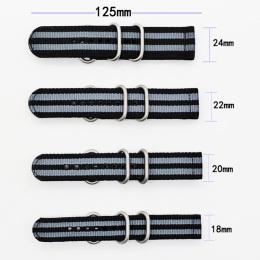 间色  长短带涤纶表带  可配方钢扣也可配旦圈  现有材料颜色任选  支持定制颜色 三和兴表带2