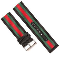 車皮革滌綸表帶  間色長短帶款  現有材料顏色任選  支持定制顏色  三和興表帶1