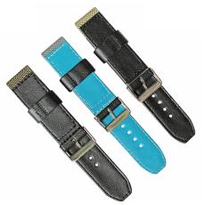 車皮革尼龍表帶  單色長短帶款  現有材料顏色任選  支持定制顏色  三和興表帶1