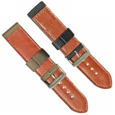 車皮革尼龍表帶  單色長短帶款  現有材料顏色任選  支持定制顏色  三和興表帶3
