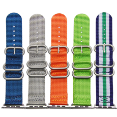 苹果连接器款尼龙表带  间色纯色长短带配旦圈款  三和兴表带NL128