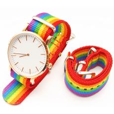 6個顏色隨心配尼龍表帶  搭配成表觀賞效果更直觀  三和興表帶DL131