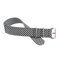 黑白方格定制款尼龙表带  三和兴表带NL147