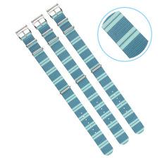北极光纹路定制款超漂亮尼龙表带  颜色纹路随心配  NL149三和兴表带