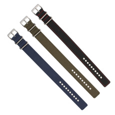 鸡眼俐仔孔定制款超漂亮尼龙表带  颜色纹路随心配  三和兴表带NL153