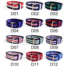 超薄款 間色配方鋼扣滌綸表帶 三和興表帶2 現有材料顏色任選  支持定制顏色