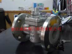X43F46-16P不锈钢304衬氟旋塞阀