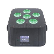 6PCS LED RGBWAUV DMX Wireless Battery Powered Par Light