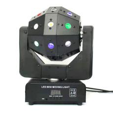 16PCS Mini Disco Ball LED Laser Moving Head Light