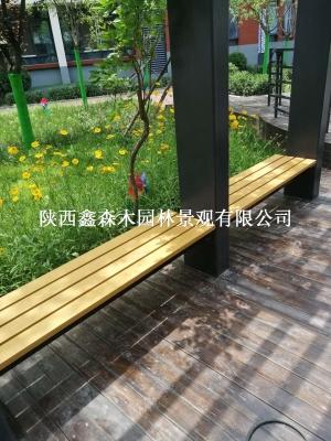 青海户外座椅/园林椅/西宁户外长椅/休闲椅/公园椅/平凳/陕西鑫森木园林
