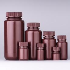 棕色试剂瓶琥珀色溶济瓶防紫外线遮光样品瓶瓶PP大口瓶4-2000ML