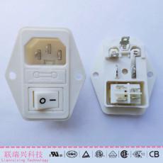 三合一白色插座
