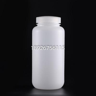 高密度聚乙烯 HDPE试剂瓶 白色耐低温1000ML广口瓶子样品瓶胶水瓶