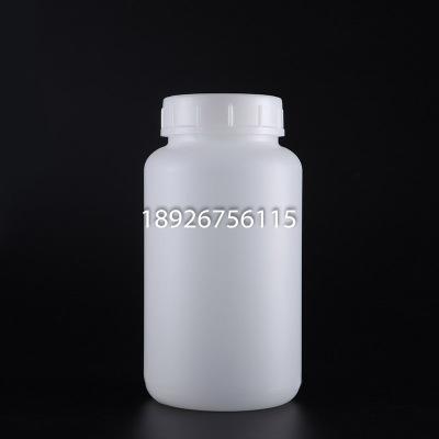 高密度聚乙烯 HDPE试剂瓶 白色耐低温2000ML广口瓶子样品瓶带内外盖胶水瓶2L