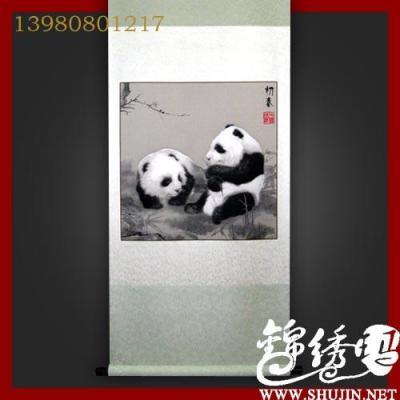 蜀锦初春熊猫