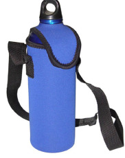 CBH026A Water bottle cooler with lanyards