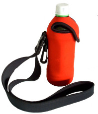 CBH026C Water bottle cooler with lanyards