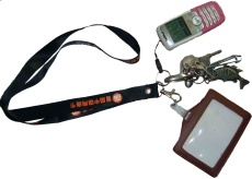 LYD012 Lanyards with key and pouch